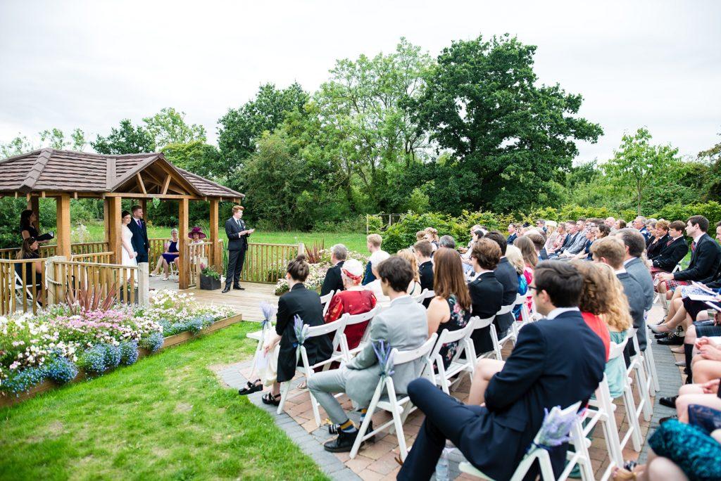 outdoor ceremony reading