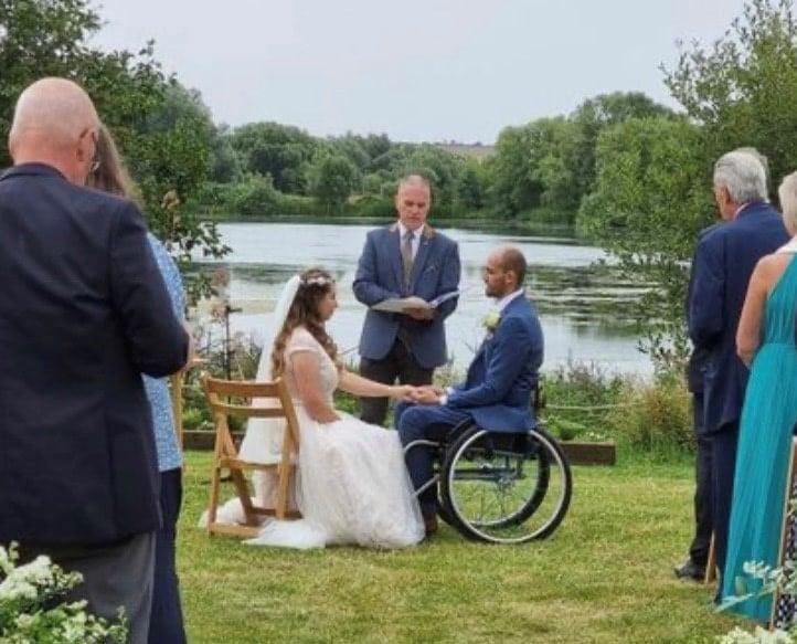 Vince Hawkes outdoor wedding ceremony